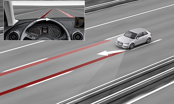 Lane assist helps you to stay in your lane and prevents accidents