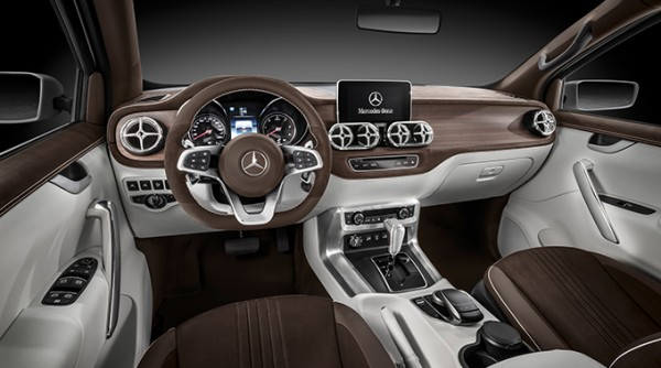 Interior of Mercedes-Benz X Class Concept