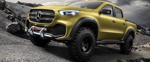 Exterior of Mercedes-Benz X Class Concept