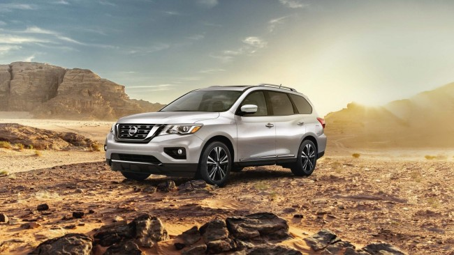 sell your car in 30min the upgraded nissan pathfinder 2018 now available in the. Black Bedroom Furniture Sets. Home Design Ideas