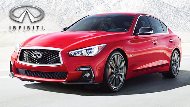 Face-lifted 2018 Infiniti Q50 with Twin-Turbo V6 Engine and Updated Safety Features