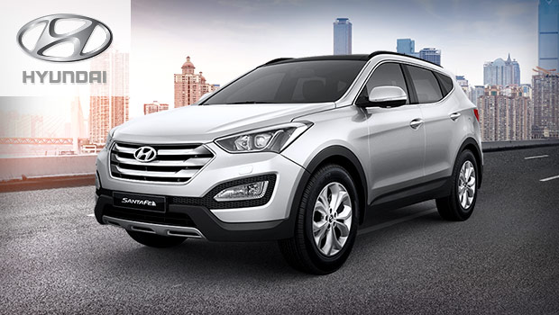 sell your car in hyundai santa fe a compact suv with v6 engine and. Black Bedroom Furniture Sets. Home Design Ideas