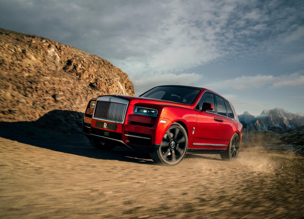Exterior of the 2019 Rolls-Royce Cullinan